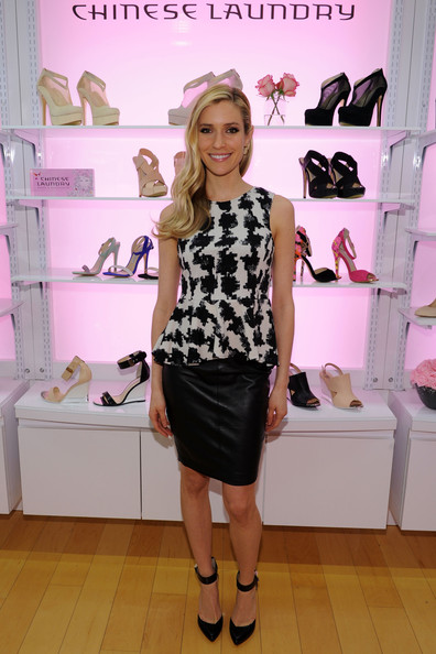 More Pics of Kristin Cavallari Knee Length Skirt (1 of 13) - Kristin Cavallari Lookbook - StyleBistro