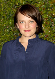Elisabeth Moss kept it casual yet cute with this short side-parted 'do at the Chloe LA fashion show and dinner.