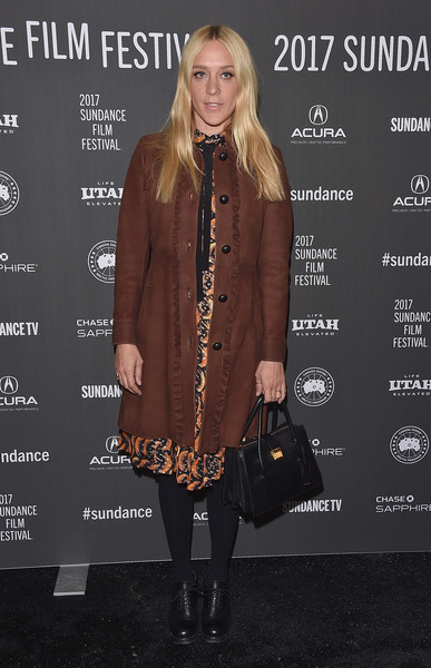 Chloe Sevigny Leather Coat
