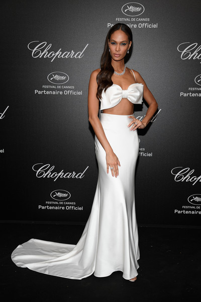 Joan Smalls In Roberto Cavalli Couture