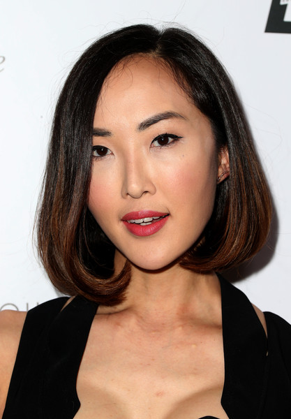 Chriselle Lim Bob [hair,face,lip,eyebrow,hairstyle,chin,skin,beauty,cheek,forehead,arrivals,chriselle lim,west hollywood,california,sunset tower hotel,daily front row,fashion los angeles awards]