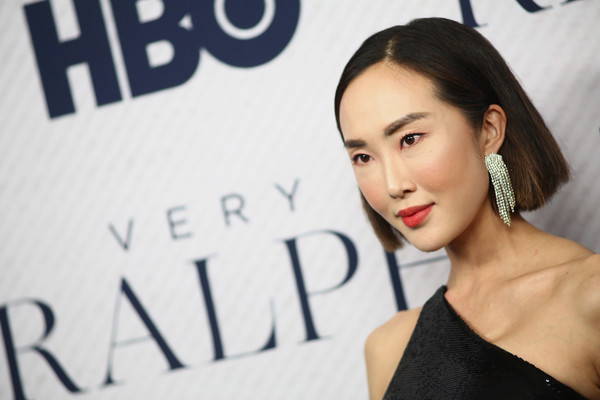 Chriselle Lim Bob [premiere of hbo documentary film ``very ralph,hair,face,eyebrow,skin,lip,beauty,hairstyle,chin,fashion,shoulder,arrivals,chriselle lim,beverly hills,california,the paley center for media]