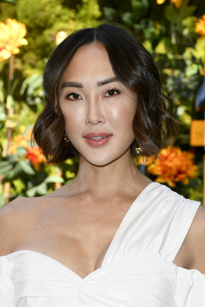Chriselle Lim Short Wavy Cut [hair,face,lady,beauty,hairstyle,skin,lip,eyebrow,smile,chin,arrivals,chriselle lim,los angeles,pacific palisades,california,will rogers state historic park,veuve clicquot polo classic]