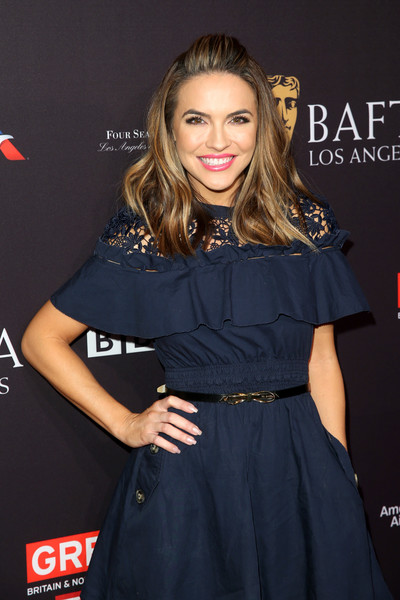 Chrishell Stause Skinny Belt [clothing,hairstyle,dress,long hair,premiere,lip,blond,fashion,brown hair,little black dress,arrivals,chrishell stause,los angeles,four seasons hotel,california,beverly hills,bafta,tea party]