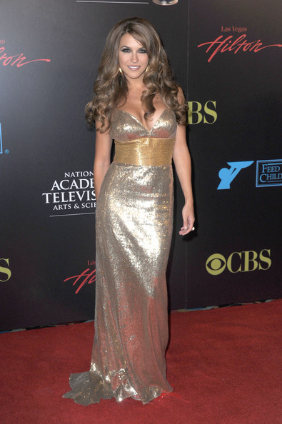 Chrishell Stause Sequin Dress [red carpet,clothing,carpet,shoulder,dress,fashion model,gown,flooring,hairstyle,premiere,arrivals,chrishell stause,las vegas hilton,nevada,daytime entertainment emmy awards]