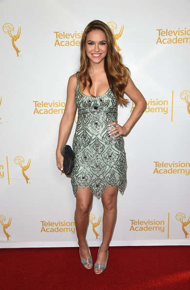 Chrishell Stause Peep Toe Pumps [clothing,dress,cocktail dress,red carpet,carpet,fashion model,hairstyle,fashion,footwear,shoulder,arrivals,chrishell stause,the london west hollywood,california,television academy,daytime programming peer group,daytime emmy nominees celebration]