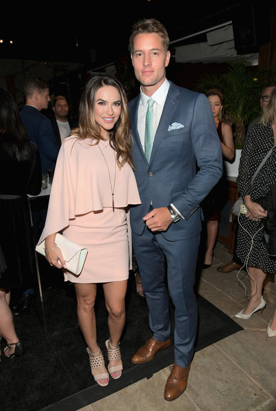 Chrishell Stause Studded Heels [clothing,fashion,suit,event,formal wear,leg,outerwear,dress,fun,footwear,69th emmys,chrishell stause,justin hartley,emmys,dream hollywood,the highlight room,hollywood,california,audi celebrates,l]