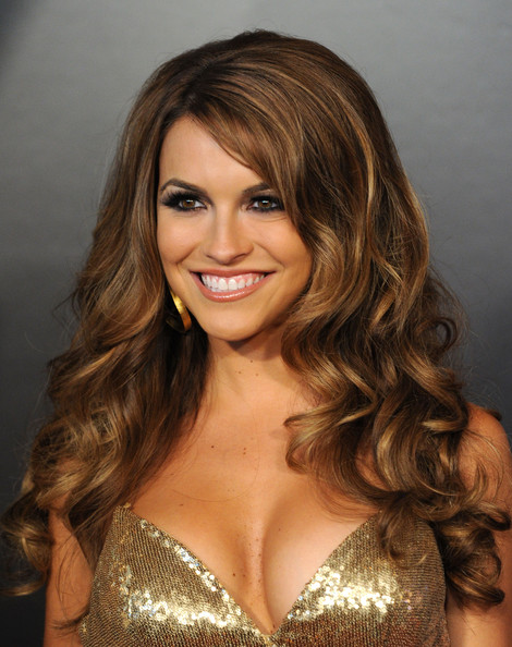 Chrishell Stause Long Curls [hair,hairstyle,face,blond,brown hair,eyebrow,long hair,hair coloring,layered hair,beauty,arrivals,chrishell stause,las vegas hilton,nevada,daytime entertainment emmy awards]