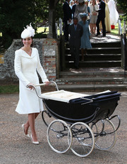 Kate Middleton donned a simple yet regal Alexander McQueen coat for Princess Charlotte's christening.