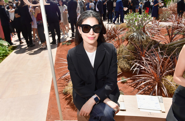 Caroline Issa accessorized with a pair of oversized shades for the Dior Couture Fall 2017 show.