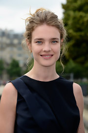 Natalia Vodianova rocked a slightly messy updo at the Christian Dior Haute Couture runway show.