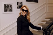 Celine Dion arrived for the Dior Couture Fall 2016 show wearing a pair of butterfly sunnies.