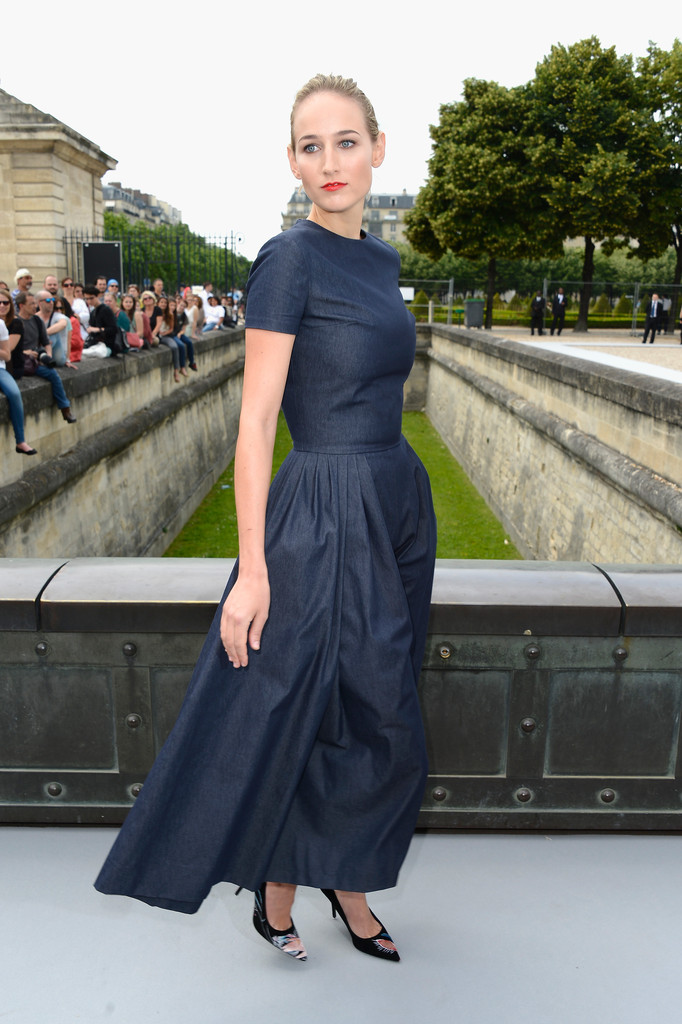 Leelee Sobieski attends the Christian Dior show as part of Paris Fashion Week Haute-Couture Fall/Winter 2013-2014 at Hotel Des Invalides on July 1, 2013 in Paris, France.