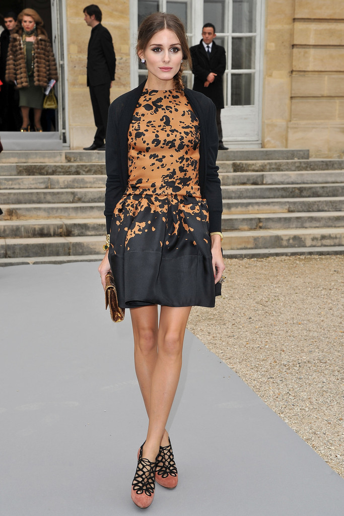 Olivia Palermo attends the Christian Dior Ready-To-Wear Fall/Winter 2012 show as part of Paris Fashion Week at Musee Rodin on March 2, 2012 in Paris, France.