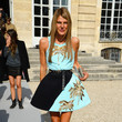 Anna Dello Russo in Baby Blue Palm Trees