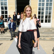 Eva Riccobono in Black-and-White Pleats
