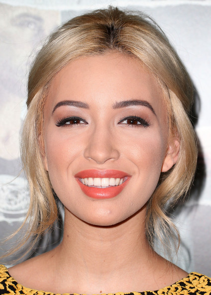 Christian Serratos Bright Lipstick