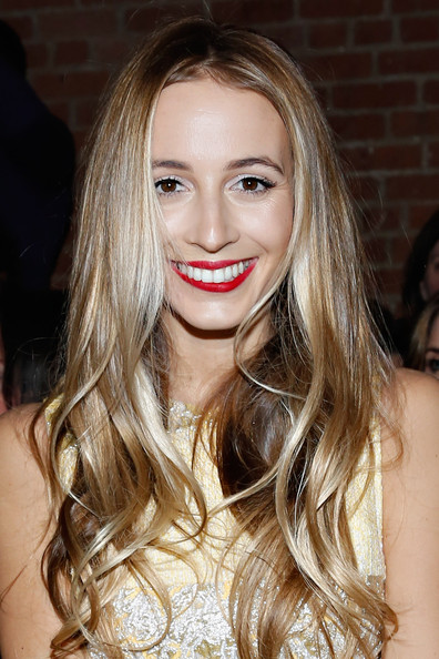 Harley Viera-Newton attended the Christian Siriano fashion show wearing boho-chic piecey waves.