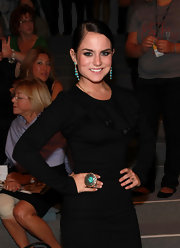 Jojo showed off her decadent cocktail ring while hitting the Christian Siriano Spring 2011 fashion show.