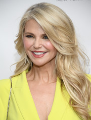Christie Brinkley was stylishly coiffed with this long wavy 'do at Bella New York's Influencer issue launch party.