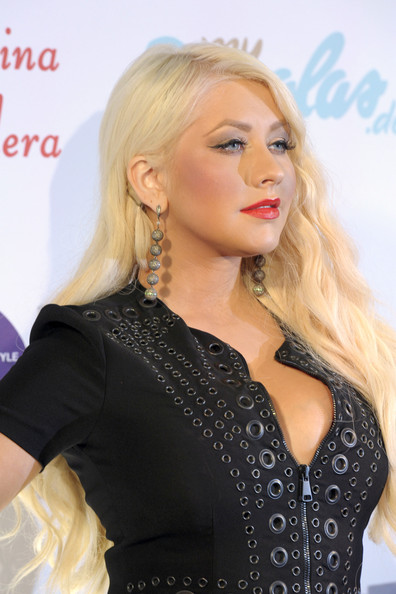 More Pics of Christina Aguilera Long Curls (1 of 23) - Christina Aguilera Lookbook - StyleBistro