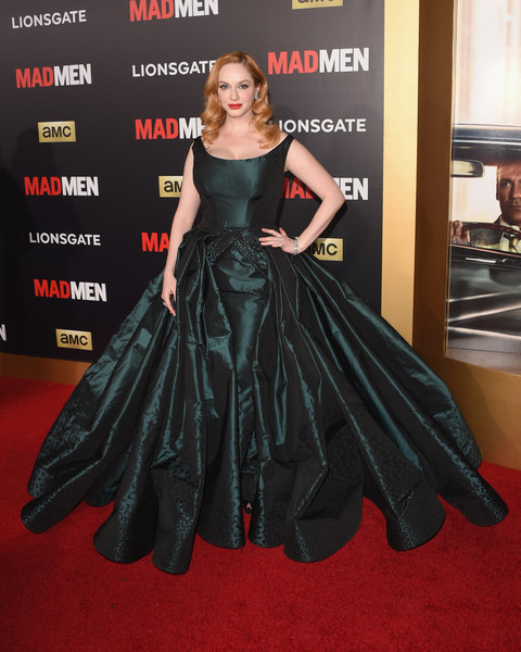 Christina Hendricks Princess Gown