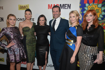 Christina Hendricks Elisabeth Moss 'Mad Men' Season 7 Premiere in Hollywood — Part 2