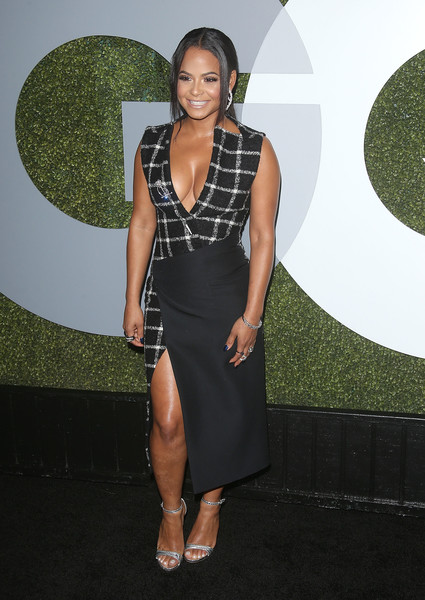Christina Milian Cocktail Dress [clothing,dress,cocktail dress,fashion,little black dress,shoulder,carpet,red carpet,footwear,long hair,arrivals,christina milian,gq men of the year party,california,los angeles,chateau marmont,gq men of the year party]