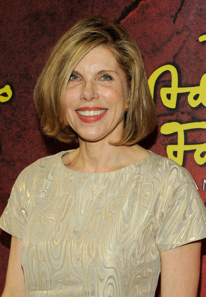 Christine Baranski Bob [the addams family,hair,hairstyle,blond,premiere,layered hair,smile,brown hair,long hair,feathered hair,arrivals,christine baranski,curtain call,new york city,lunt-fontanne theatre,broadway,opening]