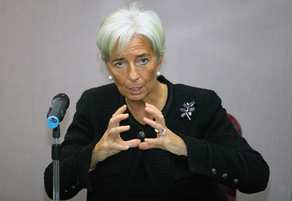 Christine Lagarde Gemstone Brooch