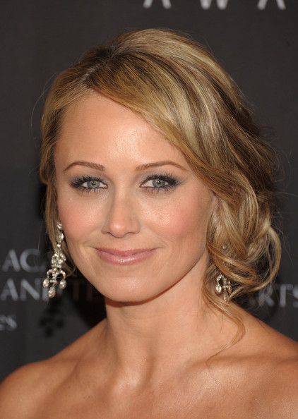 Christine Taylor Bobby Pinned Updo