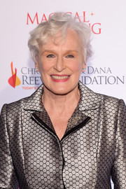 Glenn Close wore her hair in short curls at the Magical Evening Gala.