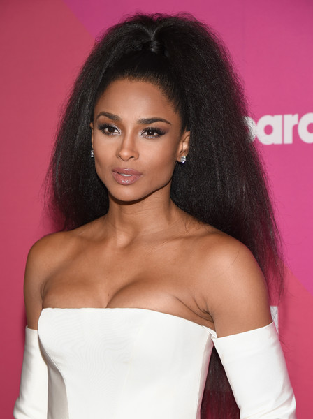 Ciara Ponytail [red carpet,hair,face,hairstyle,shoulder,eyebrow,beauty,black hair,long hair,lip,skin,ciara,hollywood highland center,ray dolby ballroom,california,billboard women in music]