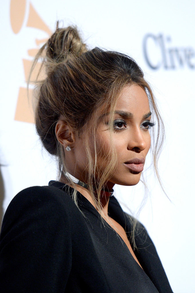 Ciara hair stylebistro ciara was sexily coiffed with this loose top knot during the pre grammy gala pmusecretfo Gallery
