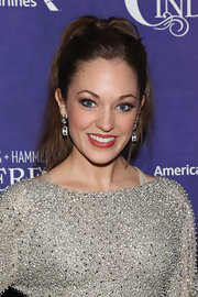 Laura Osnes opted for a messy high ponytail for her effortless look at 'Cinderella' on Broadway's after party.