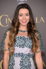 Sierra Furtado looked charming with her ombre curls at the Hollywood premiere of 'Cinderella.'