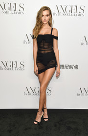 This Danielle Guizio LBD was all sorts of sexy with its short, sheer, skintight design!