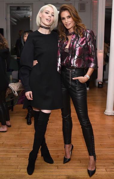 Cindy Crawford Leather Pants [marc jacobs beauty celebrates kaia gerber,models,coco rocha,cindy crawford,clothing,fashion,footwear,leggings,fashion design,event,tights,jeans,outerwear,textile,new york city,l]