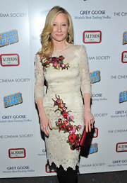 Anne was an embroidered beauty in a cream lace frock at the screening of 'Cedar Rapids.'