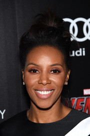 June Ambrose sported an edgy top knot when she attended the 'Avengers: Age of Ultron' screening.