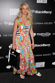 Nanette Lepore rocked a bold print when she wore this colorful maxi dress.