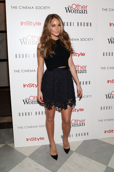 More Pics of Hannah Jeter Little Black Dress (1 of 4) - Hannah Jeter Lookbook - StyleBistro [the other woman,clothing,dress,little black dress,cocktail dress,fashion,premiere,long hair,footwear,fashion model,event,hannah davis,bobbi brown,new york city,the paley center for media,instyle,cinema society bobbi brown,the cinema society,host a screening,screening]