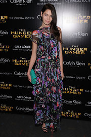 Heidi Mount livened up the red carpet at the NY screening of 'The Hunger Games' in this abstract print maxi.