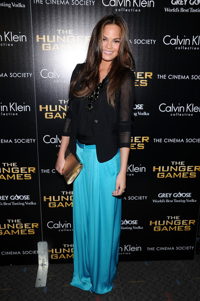 More Pics of Chrissy Teigen Slacks (1 of 5) - Chrissy Teigen Lookbook - StyleBistro