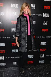 Jaimee Gregory chose this gray wool coat for her look while at the NYC screening of 'Mud.'