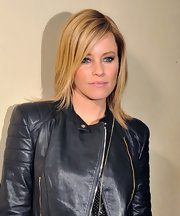 Elizabeth Banks attended the 'Man on a Ledge' after party wearing her hair super-straight with a deep side part.