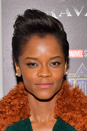 Letitia Wright rocked an anime-inspired 'do at the screening of 'Black Panther.'