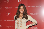 Model Irina Shayk attends the Cinema Society with Ivanka Trump Jewelry & Diane Von Furstenberg screening of
