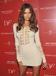 Irina Shayk wore long curls with her sexy cutout dress at the 'Snow Flower and the Secret Fan' screening.