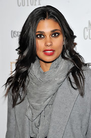Rachel Roy parted her curls down the center for the screening of 'Meek's Cutoff.' The designer added a splash of color to her look with ripe red lipstick.